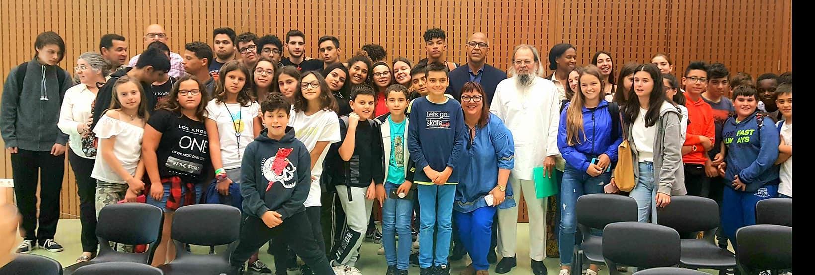 Visita do Embaixador de Cabo Verde a Escola Lima de Freitas